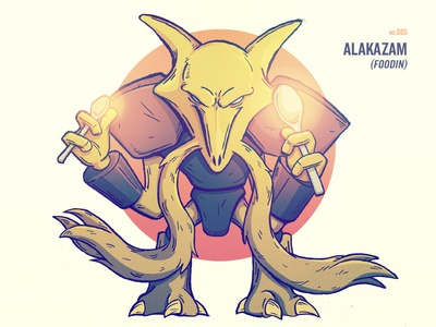 Grown-Ass Men Drawing Pokemon: Alakazam