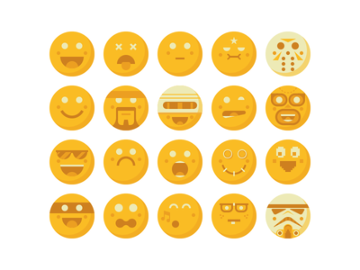 Default User Avatars avatar face smile storm trooper jason robocop snake lumpy space princess luchador