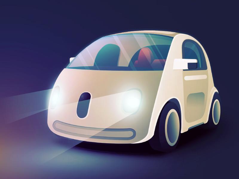 Fast Company - Google Car fast company illustration google car