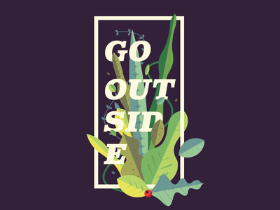 To Resolve - 2015 to resolve new year illustration greens plants leaves