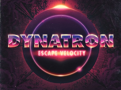 Futuralbum   Dynatron - Escape Velocity dynatron escape velocity futuralbum 80s retro type