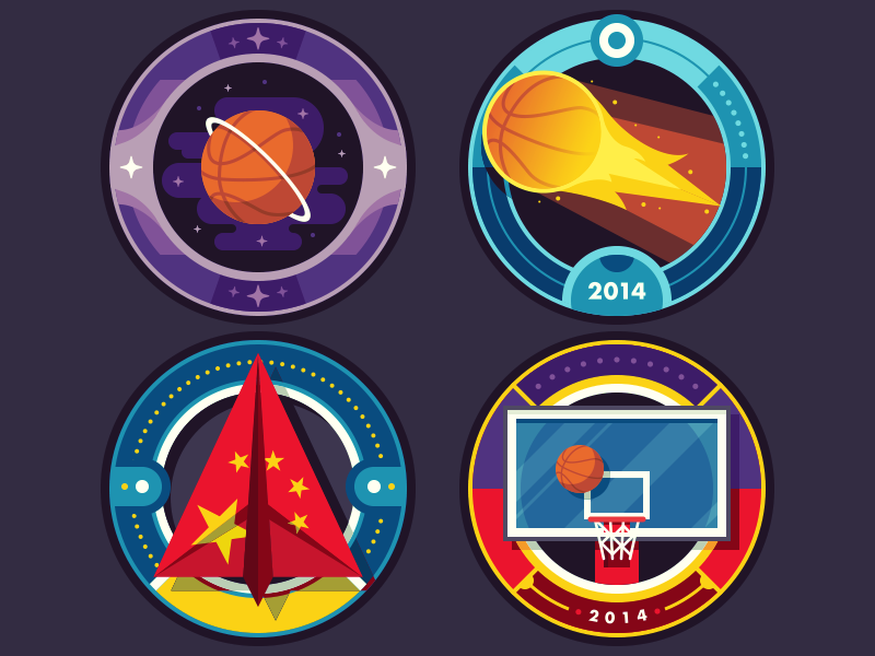 ESPN Badges: College Hoops Tip-Off 2014 badge illustration sports basketball espn