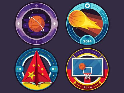 ESPN Badges: College Hoops Tip-Off 2014 badge illustration sports basketball espn