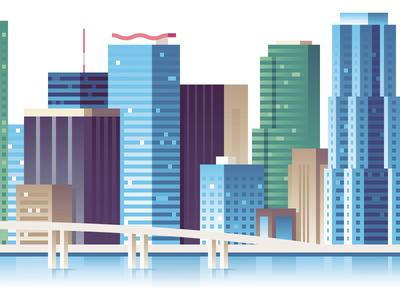 Wired - Miami wired miami illustration city skyline