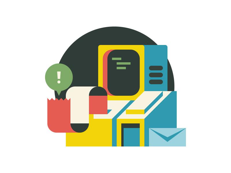 Newsletter Signup computer illustration envelope