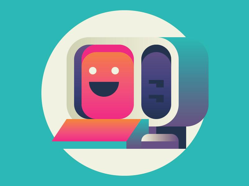 Com-poot-er illustration computer