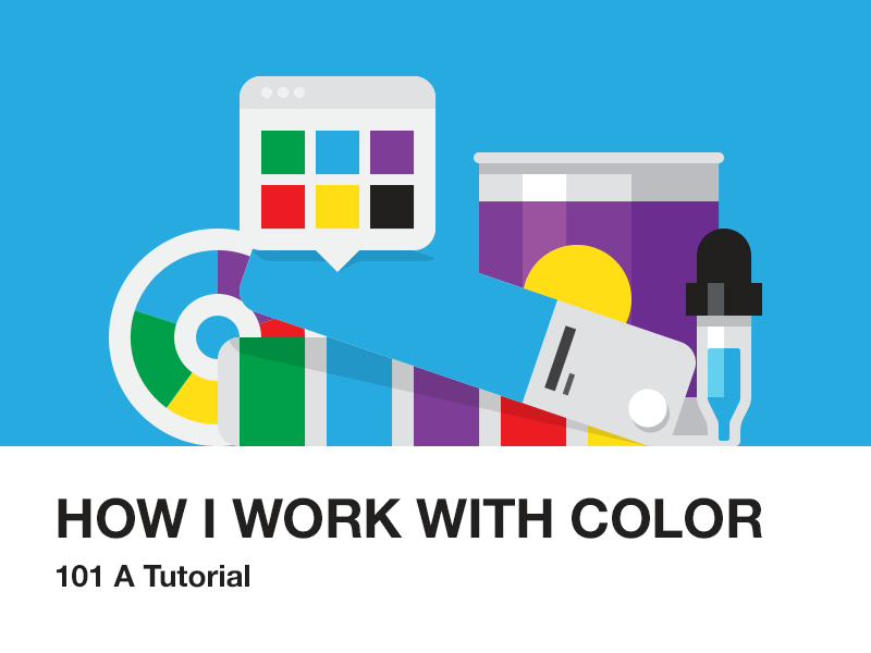 How I Work with Color illustration color how to tutorial