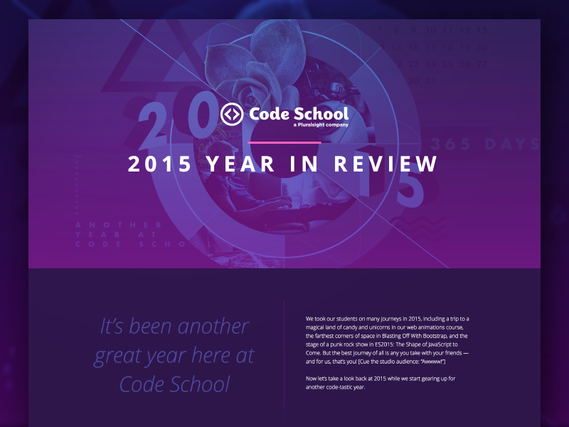 Code School: 2015 Year in Review by Justin Mezzell