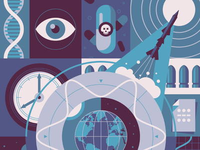 Omega - Spy Gadgets dna morse code clock bullet pill rocket illustrations watches omega