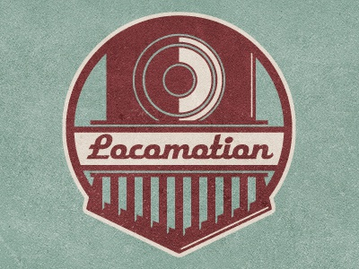_60 locomotion train engine badge logo steam