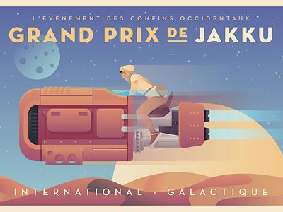 Grand Prix De Jakku creative south a gallery far far away poster speeder rey jakku star wars