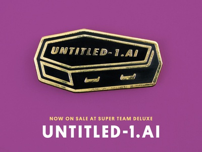 Super Team Deluxe: Untitled-1.ai justin mezzell super team deluxe illustration death enamel pin pin adobe illustrator untitled-1.ai coffin