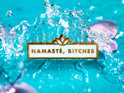 Super Team Deluxe: Namasté product flowers water namaste lapel pin super team deluxe