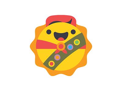 Sun Scouts Unite! illustration happy smile badge boy cub scout sun