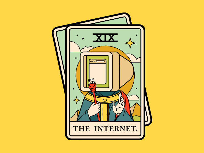 Internet Tarot computer illustration tarot card internet