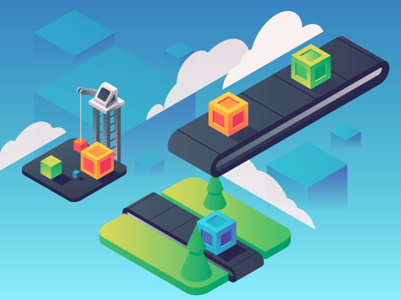 Projects illustration isometric