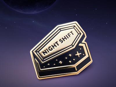 Super Team Deluxe: Night Shift coffin enamel super team deluxe lapel pin