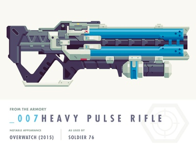 Epic Armory: Heavy Pulse Rifle (Overwatch) illustration weapon epic armory overwatch heavy pulse rifle epicarmory