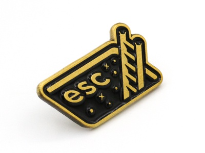 Super Team Deluxe: Escape space escape lapel pin enamel super team deluxe