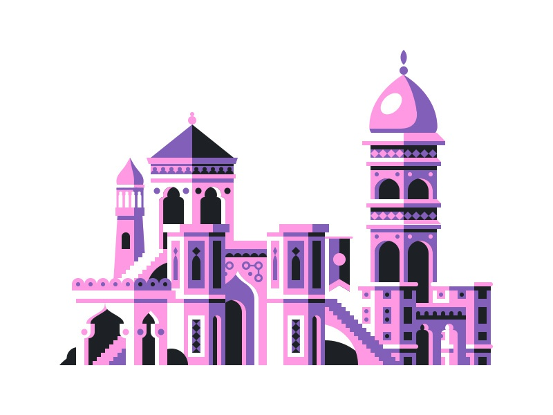 Lil' City geometric city illustration