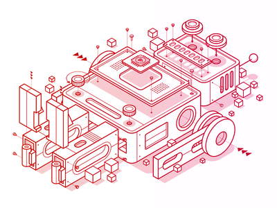 Pluralsight Design System - Robot isometric robot design system pluralsight