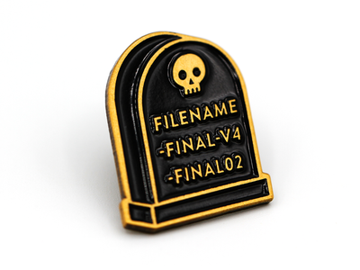 Final File enamel pin skull file final super team deluxe