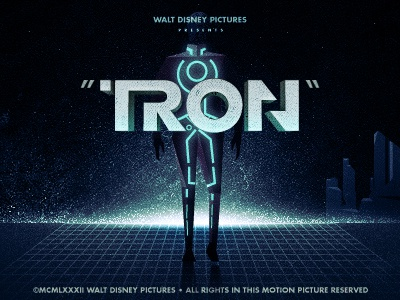_101 tron illustration titles movie film