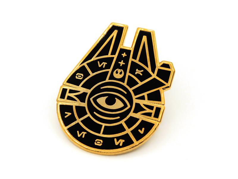 Star Wars Cult super team deluxe millenium falcon star wars lapel pin enamel