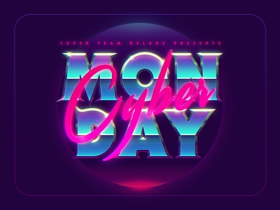 Cyber Monday at Super Team Deluxe 80s retro retrowave synthwave super team deluxe cyber monday
