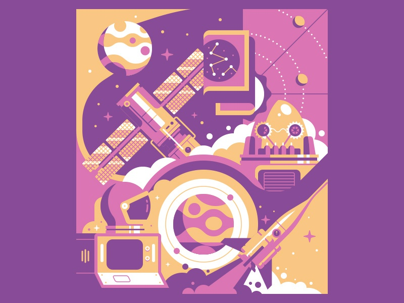 Space dribbble 2