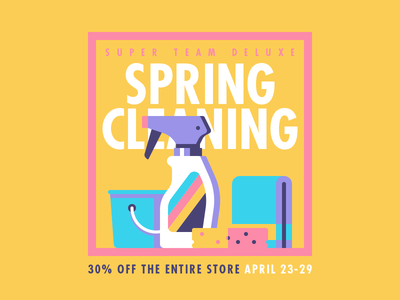 STD - Spring Cleaning Sale cleaning spring illustration super team deluxe