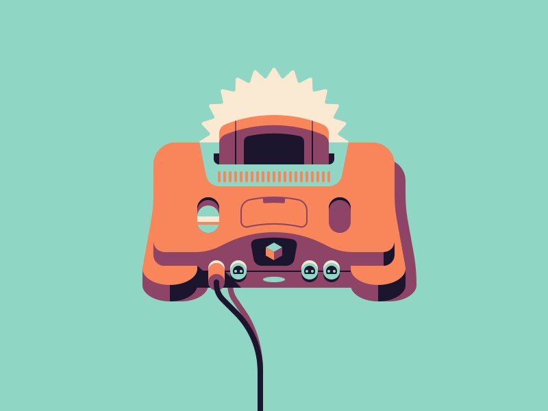 Nintendo 64 illustrtion gaming n64