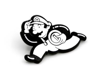 BFGS: Uncle Coinbags illustration enamel pin monopoly mario