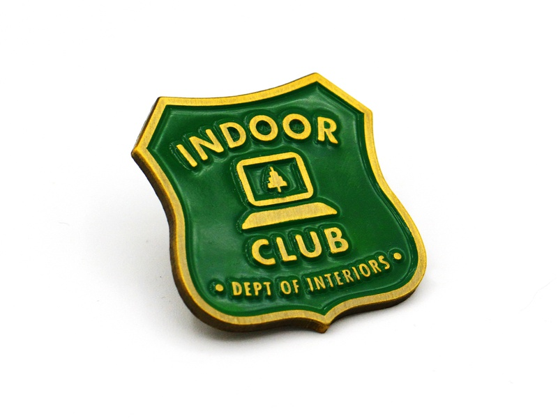 Indoor Club park ranger club indoor lapel pin pin enamel pin