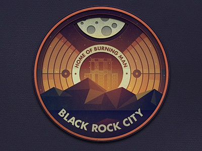 _128 black rock city badge everywhere project illustration burning man