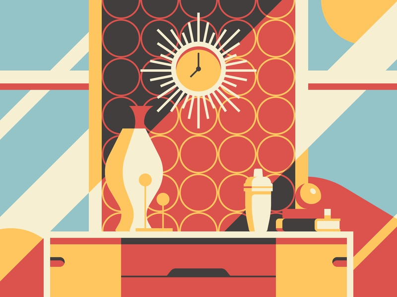 Mod Digs illustration retro mid century modern