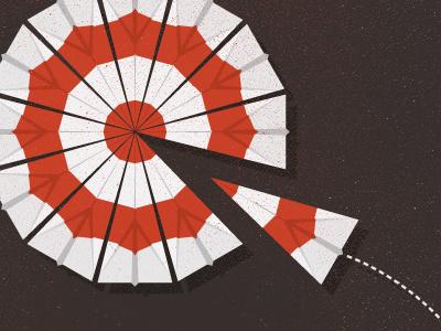 _136 target paper airplane illustration