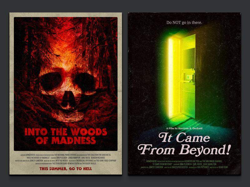 Fake Cinema Vol. 1 poster science fiction movie campy retro horror pulp movie poster