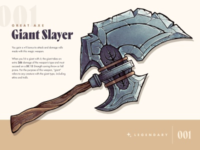 D&D Armory: Giant Slayer dungeons and dragons dndarmory dnd procreate weapon illustration