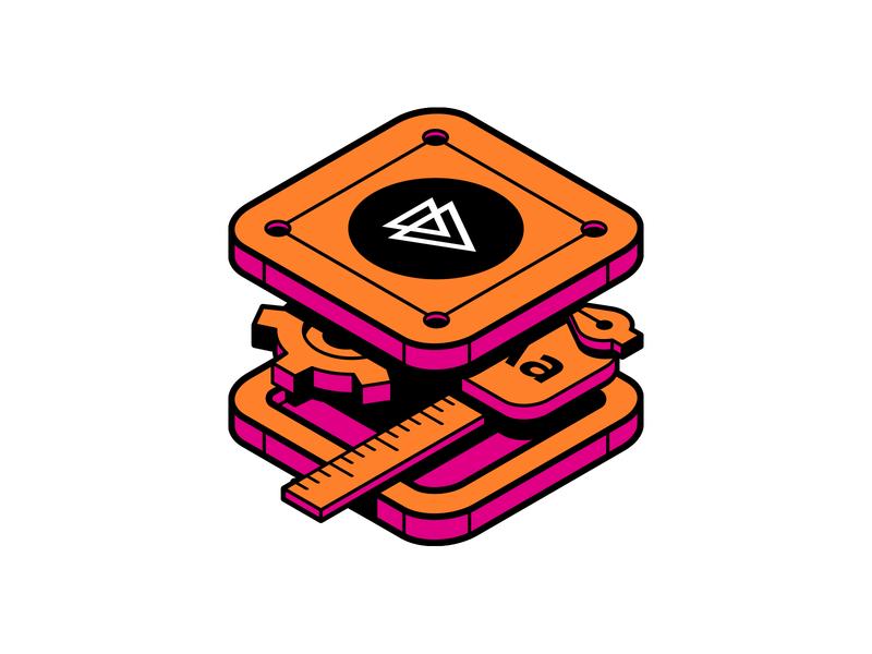 Pluralsight: Design System Sticker illustration pluralsight