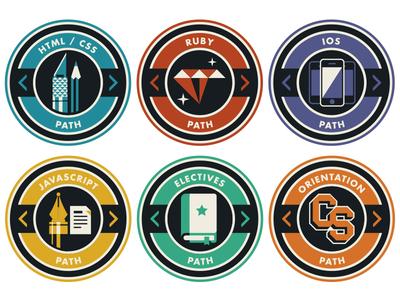 Breaking Bad(ge) badges code school ios ruby rails html css javascript electives orientation icon illustration