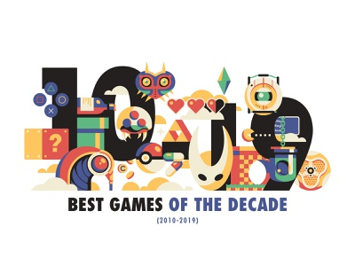 Best Games of the Decade (2010-2019) sims mario metroid pokemon rocket league hollow knight bioshock zelda illustration video games
