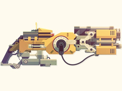 Epic Armory: Flak Cannon epicarmory epic armory flak cannon unreal tournament gun rifle weapon boom illustration