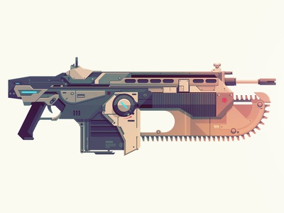 Epic Armory: Lancer gears of war lancer weapon gun video game science fiction chainsaw epicarmory epic armory