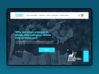 Football Landing Page landing page website minimal typography flat web logo illustration design ux ui football