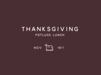 Save the Date - Thanksgiving