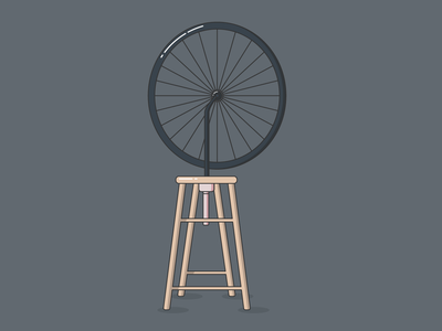 Wheelchair, 2019 dadaism dada duchamp fineart illustrator iconography simple icon design minimal vector illustration