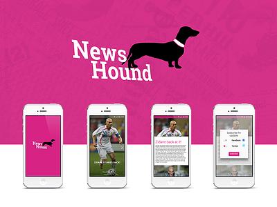 News Hound hackathon app feed new