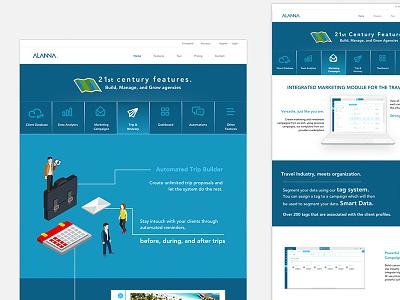 Alanna Landing Page travel isometric design web sketchapp
