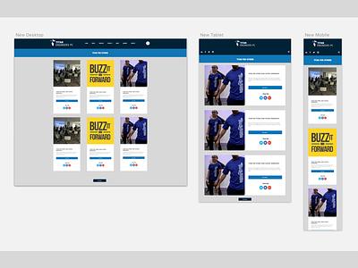 Quick Sesh blog interface ui blue square blog layout